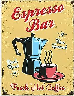 Sehaz Artworks 'Espresso Bar' Rectangular Wall Sign (Wooden, 30 cm x 20 cm x 1 cm)