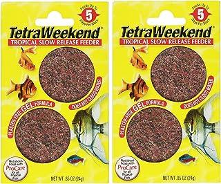 Tetra 77151 TetraWeekend Tropical Slow-Release 5-Day Feeder, 4 Count
