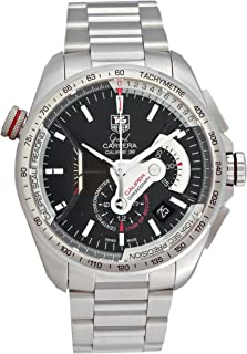 TAG Heuer Men`s CAV5115.BA0902 Grand Carrera Automatic Chronograph Black Dial Watch