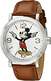 Disney Men's Mickey Mouse Watch with Black Band