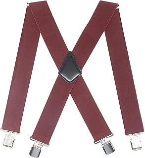آویزهای عریض مردانه 2 اینچی کلیپ های قوی وظیفه سنگین بریس های کشسان قابل تنظیم بزرگ و بلند X-back