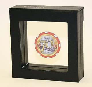 sfDisplay.com,LLC. 1 Single Casino Chip Gold Coin Medallion Display Case Box Frame Holder Shadowbox