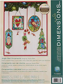 Dimensions Counted Cross Stitch Jingle Bell Ornament Kit, 5 pcs