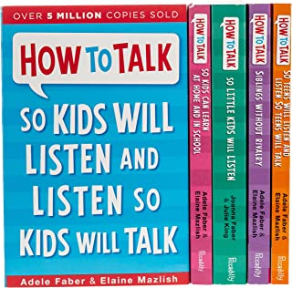 How To Talk Collection 5 Books Set (How to talk so Kids Will listen, How to talk Series) Paperback by Joanna Faber