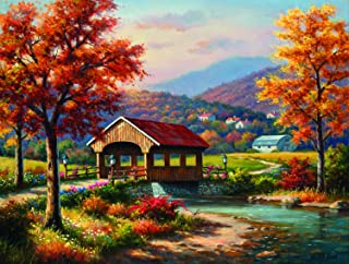 Covered Bridge in Fall 500 pc Jigsaw Puzzle