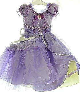 3点セット プリンセスなりきり 子供 ドレス キッズ 子ども お姫様 ワンピース  お姫様ドレス 女の子 なりきり キッズドレス ちいさなプリンセス ソフィア (130)