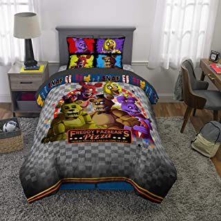 Franco Kids Bedding Super Soft Comforter and Sheet Set, 4 Piece Twin Size, Five Nights at Freddy's
