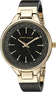 Anne Klein Women's Swarovski Crystal Accented Resin Bangle Watch, AK/1408