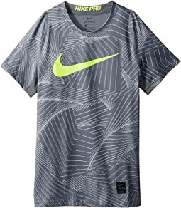 Nike Kids - Pro Short Sleeve Printed Training Top (Little Kids/Big Kids)