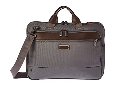 Briggs & Riley @work Slim Brief (Grey) Briefcase Bags