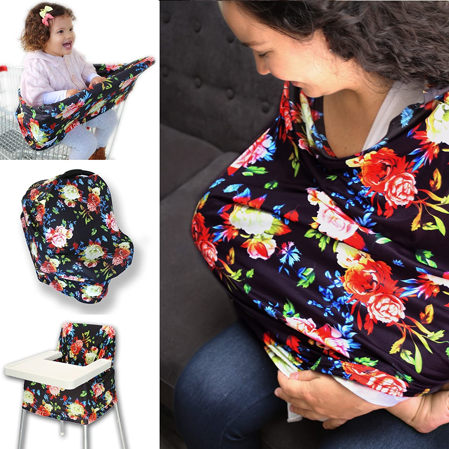 Multi-Use Nursing Super intense SALE Cover and Infinity Weekly update Stretchy Br Cotton Scarf