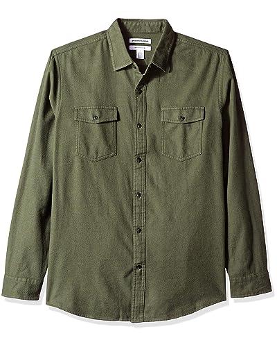 4f47d26676d Olive Green Men's Button Up Shirts: Amazon.com