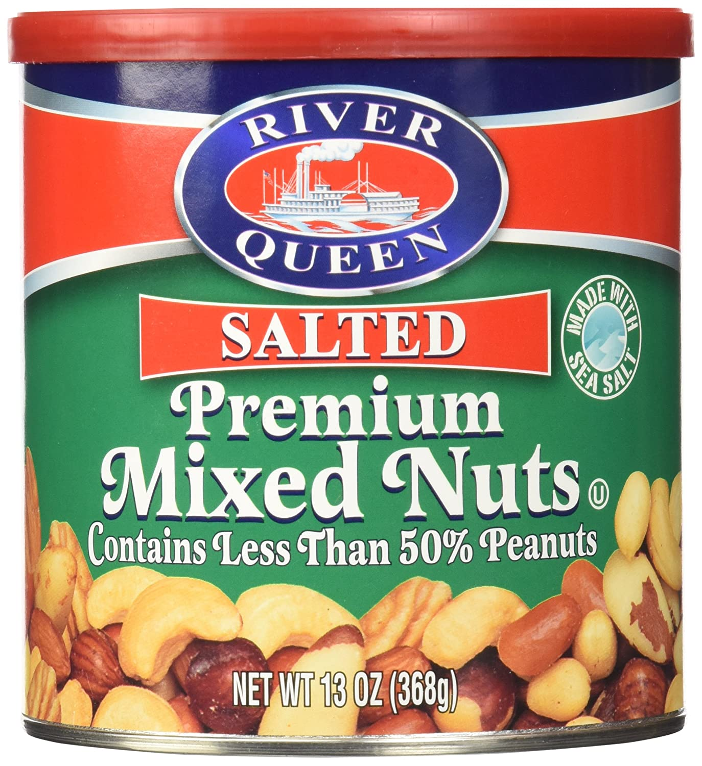 River Queen Quantity limited Premium Salted [Alternative dealer] Mixed Nuts Ounce. 13
