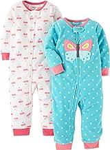 Carter's Baby and Toddler Girls' 2-Pack Fleece Footless Pajamas