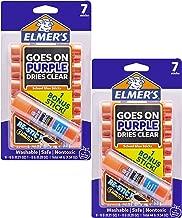 Elmer's Disappearing Purple Glue Sticks with Bonus Re-Stick Glue Stick, 6 + 1 Pack (2 Pack)