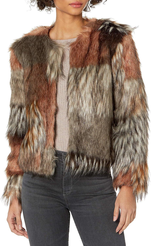 BB Dakota by Steve Madden Women's Patch My Drift Faux Fur Jacket