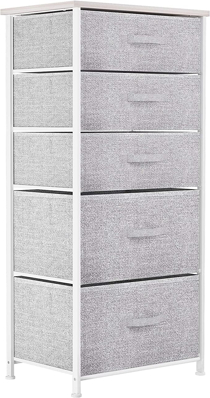 YITAHOME Chest of Drawers, Non-Woven Fabric 5-Drawer Storage Organizer