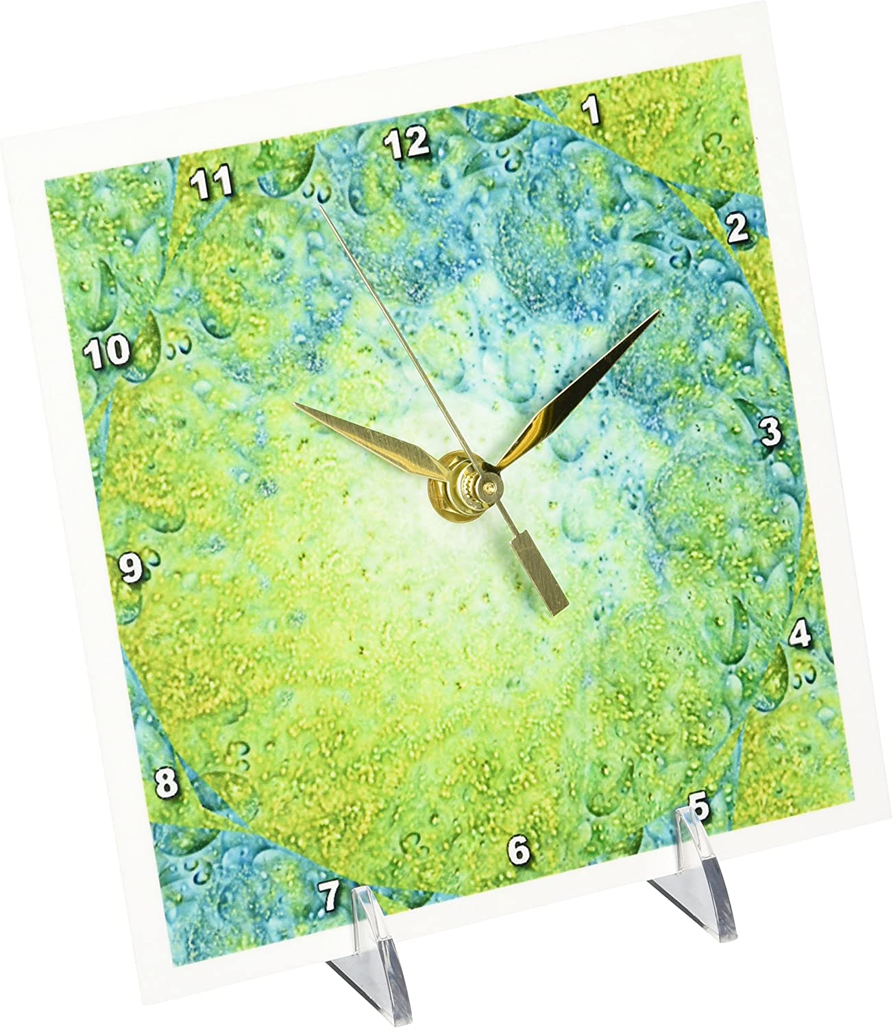 Popular brand in Animer and price revision the world 3dRose dc_8445_1 Desk Clock Oil 6 Abstract by 6-Inch