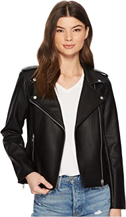 Amelie Textured Vegan Leather Jacket