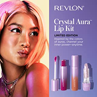 Revlon Crystal Aura Collection Lip Kit, Limited Edition Lipstick and Lip Oils, Pack of 3