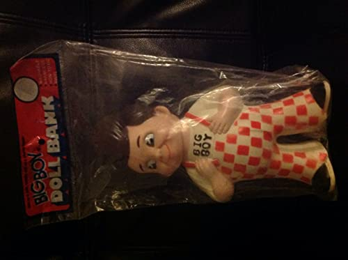 1973 BIG BOY Restaurants of America Marriott Corp. VINYL DOLL Coin BANK Mint in Package (8 3 4 Inches Tall)