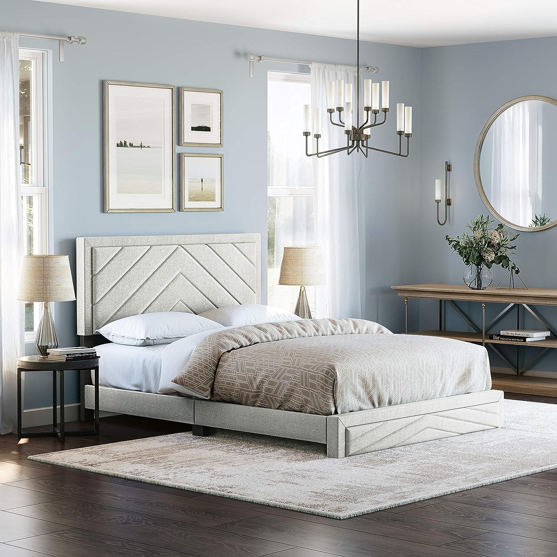 Boyd Sleep trend rank Barcelona Upholstered Platform with Portland Mall Headboard and Bed