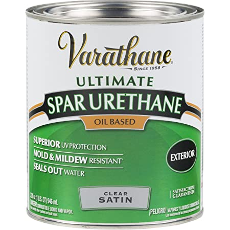 Rust-Oleum 9341 Ultimate Spar Urethane Oil Based, Quart, Satin