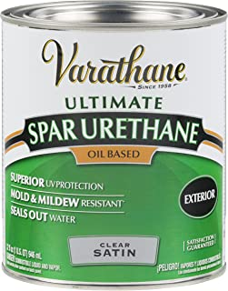 Rust-Oleum 9341 Ultimate Spar Urethane Oil Based, Quart, Satin