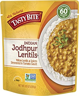 Tasty Bite Indian Entree Jodhpur Lentils 10 Ounce (Pack of 6), Fully Cooked Indian..