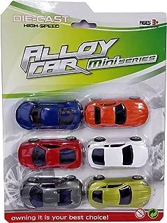 Emob Luxury & Sports Car Metal Die-Cast Pull Back Action Vehicles Play Set-Pack Of 6