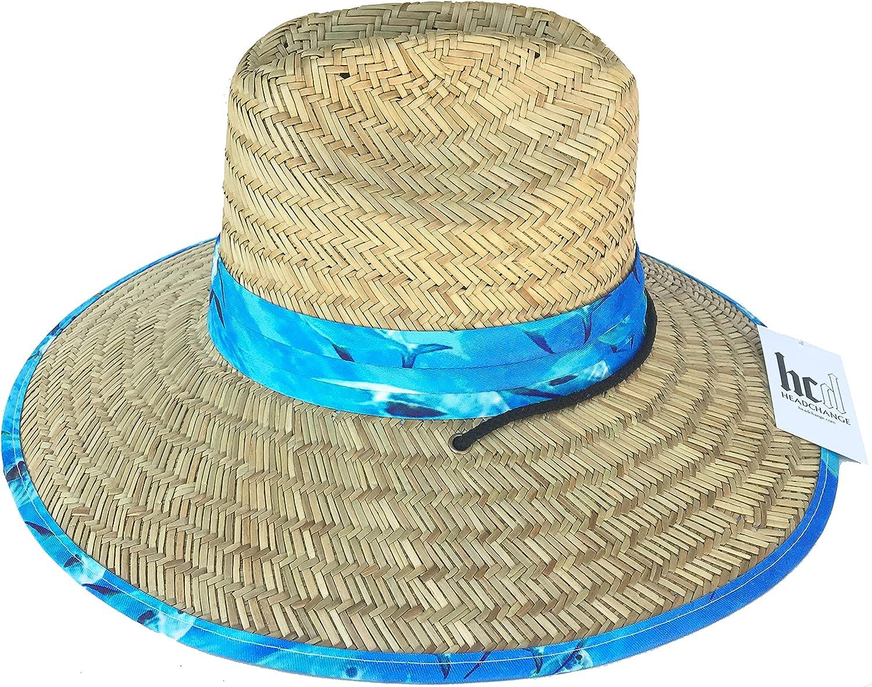 Popular brand Headchange Wide Brim Lifeguard Hat Rush S Factory outlet Sun Beach Straw Summer