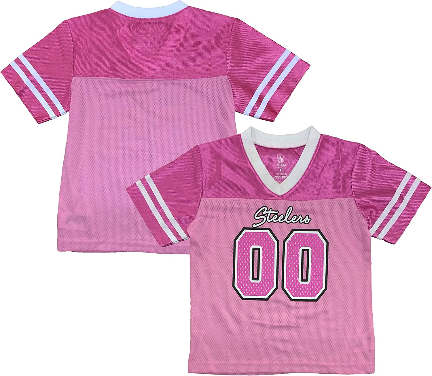 Outerstuff Washington Mall Pittsburgh Steelers #00 Dazzle Jerse Girls Youth Super sale Pink