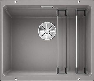 BLANCO ETAGON 500-U – Granitspüle aus SILGRANIT für die Küche für 60 cm breite Unterschränke – Unterbau – grau – 522229