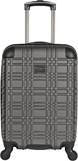 Ben Sherman Nottingham Lightweight Hardside 4-Wheel Spinner Travel Luggage, Charcoal, 20-inch Carry On