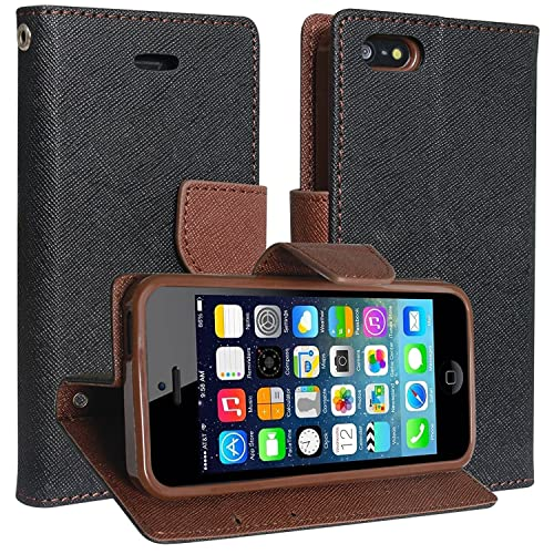 b0020c05f6084b SCHOFIC Premium Faux Leather Fancy Wallet Mobile Flip Cover with Card  Slots