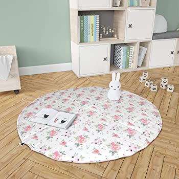 White Multiplayer Activity Play Cushion for Infants//Toddlers,Wesracia Soft Tummy Time Play Mat Newborns Crawling Pad Activity Floor Mat