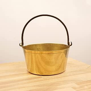 Restored by UkaVintage Heavy Cauldron/Boiler Pot || Vintage Solid Brass || Cast Iron Handle