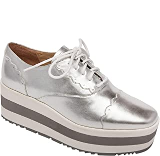 Charitable Frye Size 7.5 Kerry Low Lace Up Sneakers Pewter Silver Casual Comfort Shoes Comfort Shoes