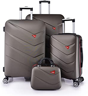TRACK Luggage set HARD 4 pieces size 30/25/20/12 inch 9013/4P (Coffee)