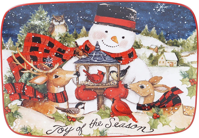 Certified International Magic Of P Rectangular Christmas Ranking TOP9 Milwaukee Mall Snowman