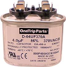 OneTrip Parts USA Run Capacitor 4 UF - 4 MFD 370 VAC Flat Oval