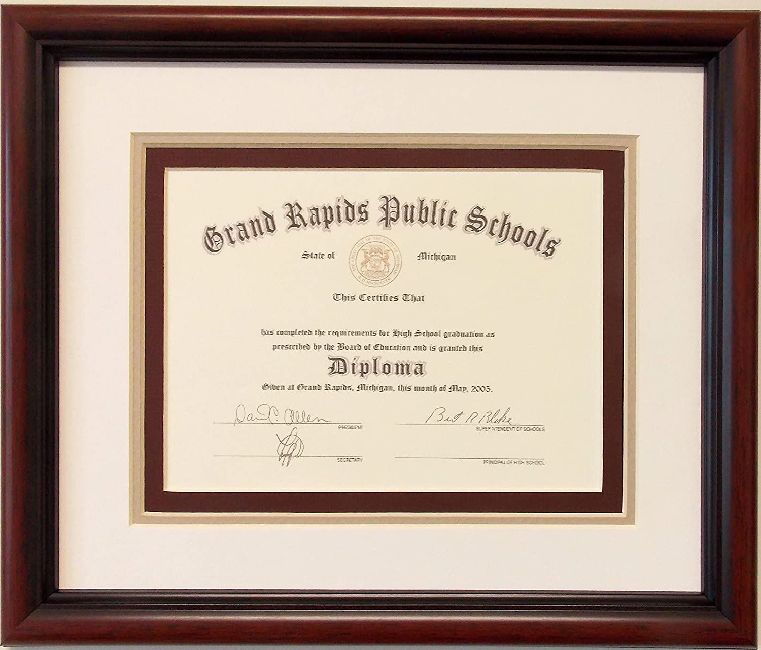 Graduation High safety School Max 73% OFF Diploma 8 X 6 Certificate