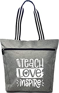 Large Teacher Tote Bags - Perfect for Work, Gifts for Teachers, Teacher Appreciation Day