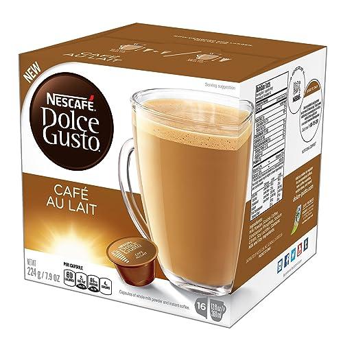 NESCAFÉ Dolce Gusto Coffee Capsules Café Au Lait 48 Single Serve Pods, (Makes 48