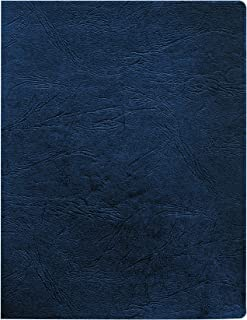 Fellowes 52136 Classic Grain Texture Binding System Covers, 11-1/4 x 8-3/4, Navy (Pack of 200)