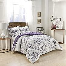 Marble Hill Jasmeen Comforter Set, King, Purple