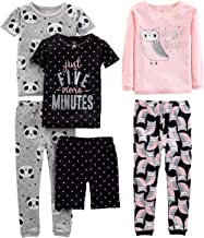 مجموعه شلوارک خواب پنبه مناسب بچه گانه کارتر ، کودک کوچک و کودک نو پا 6 قطعه لباس شاد