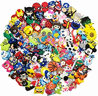 YAOYAO 100 Pcs PVC Different Shoe Charms for Crocs and Bands Bracelets