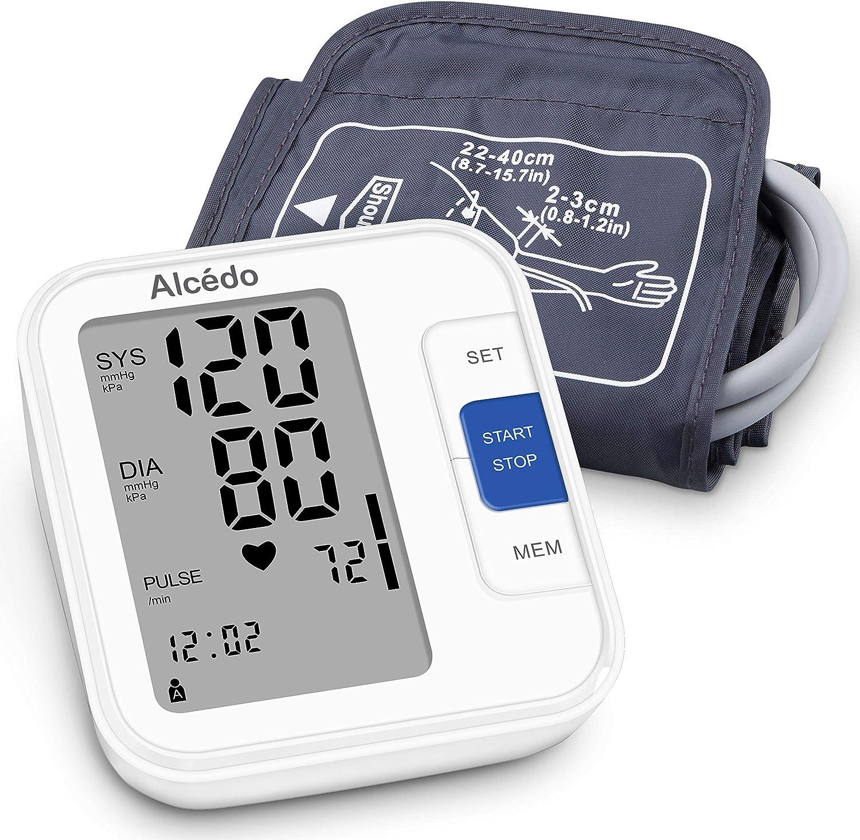 Alcedo Blood Pressure Monitor Upper Arm Automatic Digital BP Machine with WideRange Cuff for Home
