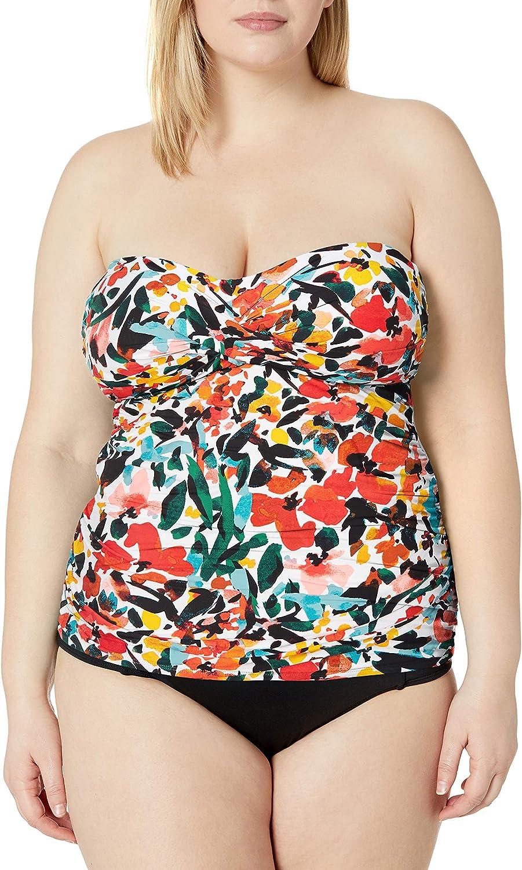 Max 69% OFF Anne Cole Women's Twist Front Bandeau Swim Tankini Top supreme